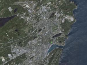 Carte de la ville de St John's (cliquez pour agrandir)