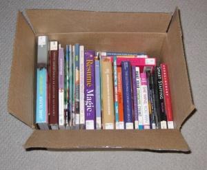 Notre carton de livres (cliquez pour agrandir)
