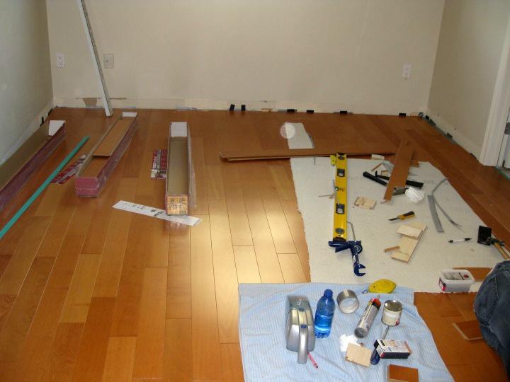 Et le chantier dans la chambre