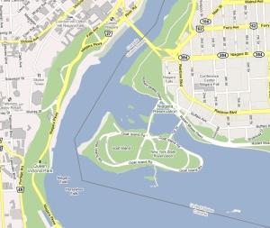 Carte de l'emplacement des chutes (cliquez sur l'image pour ouvrir une vue satellite)