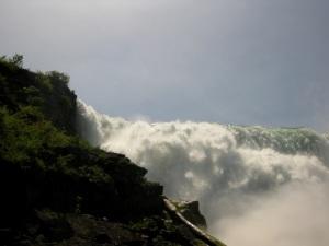 Photo des chutes en contre-plongée
