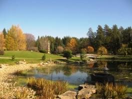 Jardin japonais et plan d'eau