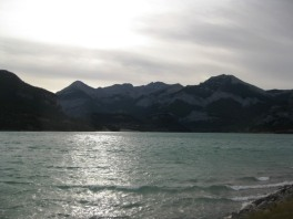 Les vagues de Barrier Lake