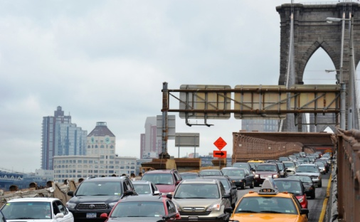 22-Trafic sur Brooklyn Bridge