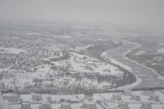 La rivière et la neige