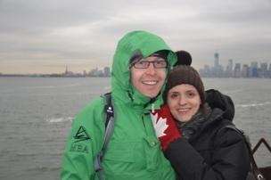 Sur le ferry qui relie Staten Island à Manhattan