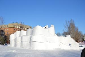 Le chateau de neige vu de derrière