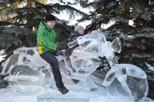 Moto en glace
