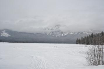 Patricia lake (gelé, sous la neige !)