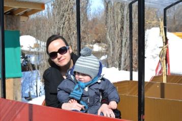 Une photo avec maman dans le petit trian