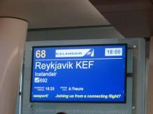 Première étape: Reykjavik