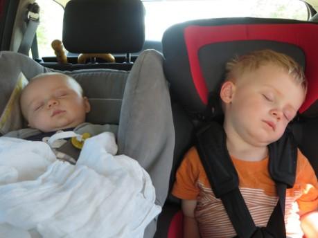 Le trajet Francfort - Jebsheim a été bien calme... 3h de route = 3 h de sommeil (y compris pour moi)