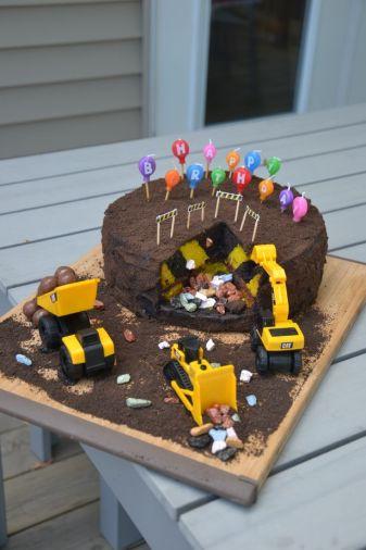 Le gâteau... même les petits cailloux son en chocolat !