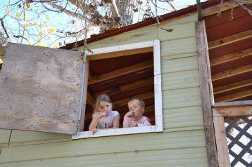 Dans la cabane