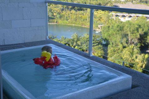 Petit bain sur la terrasse