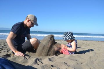 Dans le sable