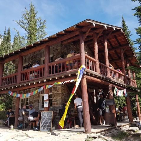 La Tea House de la balade de la Plaine des Six Glaciers