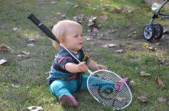 Une future pro de badminton ?
