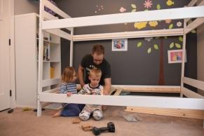 Construction du lit superposé