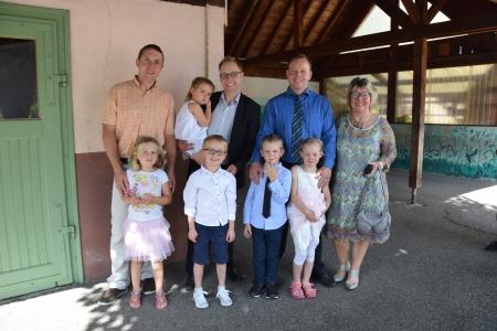 Baptême du neveu et de la nièce de Chris