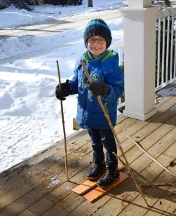 Nathan fait du ski